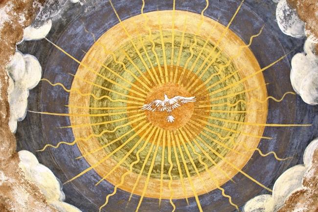 Freska u kaloti krstionice, manastir Žièa, Srbija